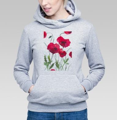 Маки - Купить детские толстовки с природой в Москве, цена детских толстовок с природой  с прикольными принтами - магазин дизайнерской одежды MaryJane