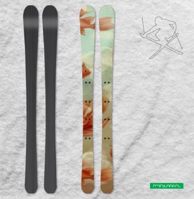 Красные рыбки - Наклейки на лыжи