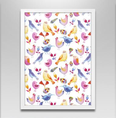 Разные птицы - Постер в белой раме, Крылья