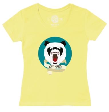 Футболка женская желтая - Злая панда