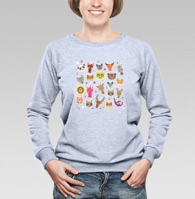Животные панда олень жираф зебра слон лев кот волк лошадь лиса енот - Купить детские свитшоты с собаками в Москве, цена детских свитшотов с собаками  с прикольными принтами - магазин дизайнерской одежды MaryJane
