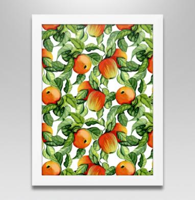 Яблоки, Постер в белой раме