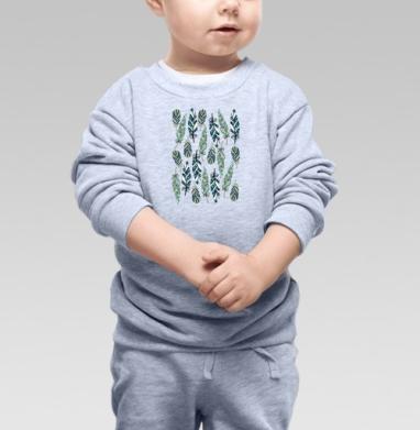 Cвитшот Детский серый меланж - Перья