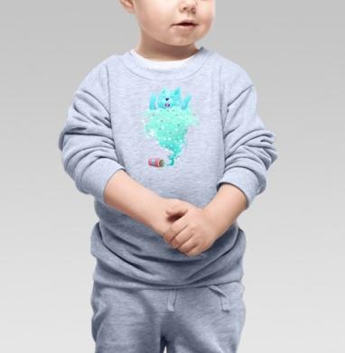 Cвитшот Детский серый меланж - Домашний Джинн