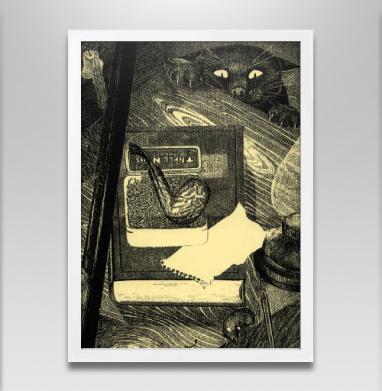 Кошка-мышка - Постер в белой раме, индеец