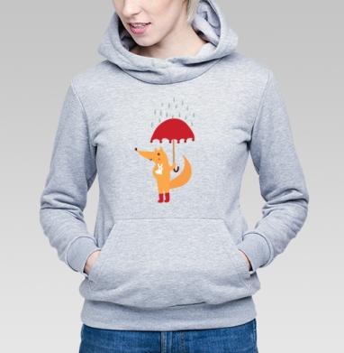 Лис и зайчик - Купить детские толстовки с любовью в Москве, цена детских толстовок с любовью  с прикольными принтами - магазин дизайнерской одежды MaryJane