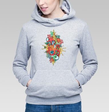 Коралловый риф - Купить детские толстовки морские  в Москве, цена детских  морских   с прикольными принтами - магазин дизайнерской одежды MaryJane