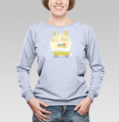 Любовь и путешествия - Купить женские свитшоты с автомобилями в Москве, цена женских свитшотов с автомобилями  с прикольными принтами - магазин дизайнерской одежды MaryJane