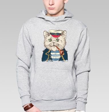 Пират-кот - Купить мужские толстовки модные в Москве, цена мужских  модных  с прикольными принтами - магазин дизайнерской одежды MaryJane