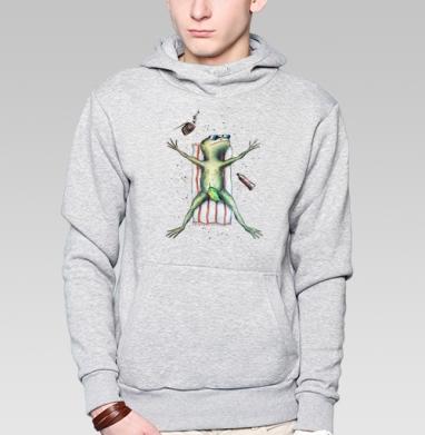 Скорее бы на пляж   - Купить мужские толстовки Ниндзя в Москве, цена мужских  Ниндзя  с прикольными принтами - магазин дизайнерской одежды MaryJane