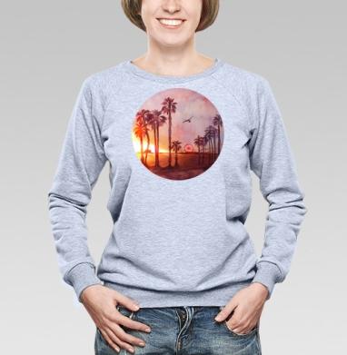 Закат в Санта Монике - Купить детские свитшоты с летом в Москве, цена детских свитшотов с летом  с прикольными принтами - магазин дизайнерской одежды MaryJane