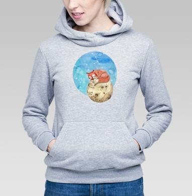 Лисёнок на Луне - Купить детские толстовки с акварелью в Москве, цена детских  с акварелью  с прикольными принтами - магазин дизайнерской одежды MaryJane