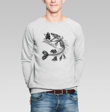 Голодная рыбка - Купить мужские свитшоты с рыбой в Москве, цена мужских свитшотов с рыбой  с прикольными принтами - магазин дизайнерской одежды MaryJane