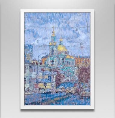 Елоховский собор - Постер в белой раме, город