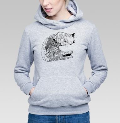Дудл-кот - Купить детские толстовки с кошками в Москве, цена детских толстовок с кошками  с прикольными принтами - магазин дизайнерской одежды MaryJane