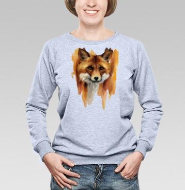 Рыжая лиса  - Купить детские свитшоты с акварелью в Москве, цена детских свитшотов с акварелью  с прикольными принтами - магазин дизайнерской одежды MaryJane