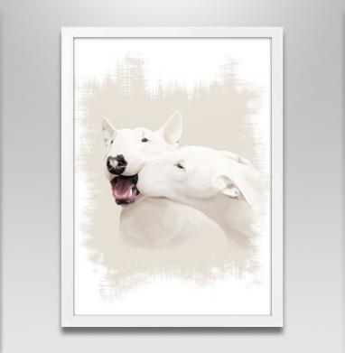 Любовь - Постер в белой раме, поцелуй