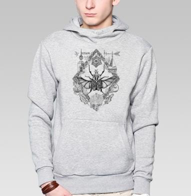 Жук-голиаф - Купить мужские толстовки ретро в Москве, цена мужских толстовок ретро  с прикольными принтами - магазин дизайнерской одежды MaryJane