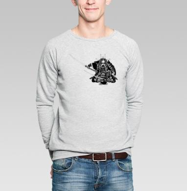 САМУРАЙ - Купить мужские свитшоты военные в Москве, цена мужских свитшотов военных с прикольными принтами - магазин дизайнерской одежды MaryJane