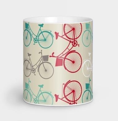 велосипеды - паттерн - серый, Новинки