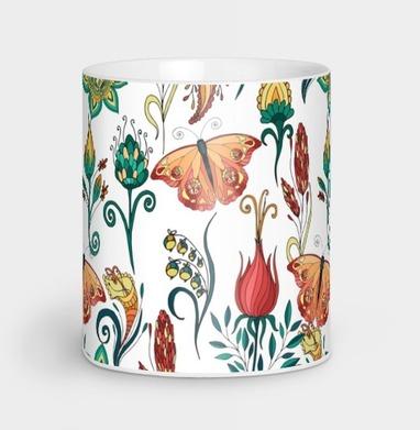 Цветочный паттерн - бабочки, Новинки