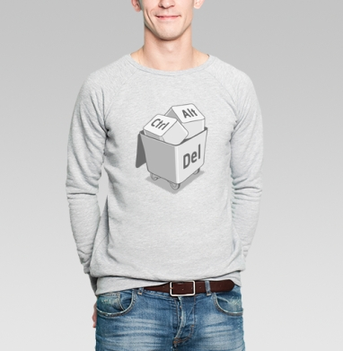 Клавиши - Купить мужские свитшоты с программистом в Москве, цена мужских свитшотов с программистом с прикольными принтами - магазин дизайнерской одежды MaryJane