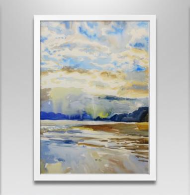 Облачное море - Постер в белой раме, живопись
