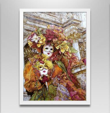 Весна в Венеции запечатка - Постер в белой раме, живопись