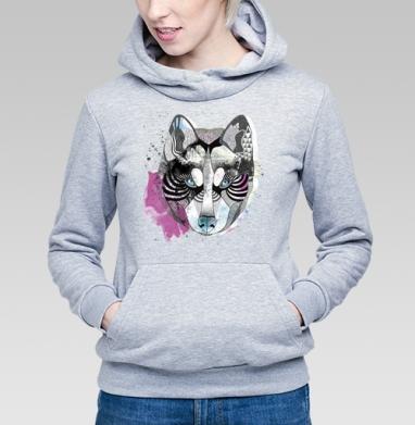 Акварельный волк - Купить детские толстовки с волками в Москве, цена детских толстовок с волками  с прикольными принтами - магазин дизайнерской одежды MaryJane