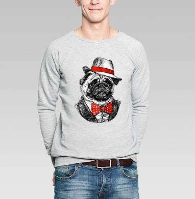 Мопс босс - Купить мужские свитшоты с собаками в Москве, цена мужских свитшотов с собаками  с прикольными принтами - магазин дизайнерской одежды MaryJane