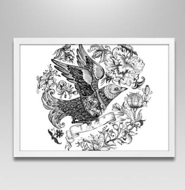 Птица в душегрее - Постер в белой раме