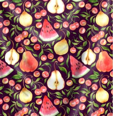 Фруктовый паттерн - фрукты, Популярные