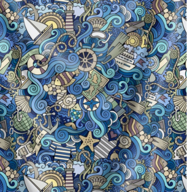 Море море... - Печать на ткани