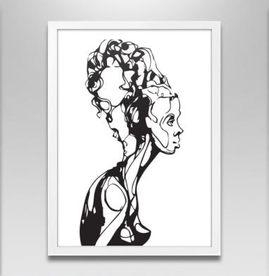 Экзистенциальный портрет - Постер в белой раме, лицо