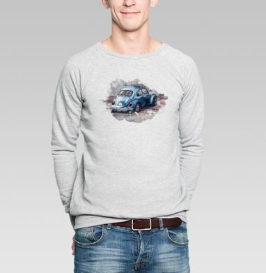 Фольксваген жук (муж.) - Купить мужские свитшоты с автомобилями в Москве, цена мужских свитшотов с автомобилями  с прикольными принтами - магазин дизайнерской одежды MaryJane
