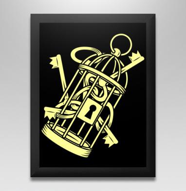 Золотые ключи в золотой клетке, Постер в чёрной раме