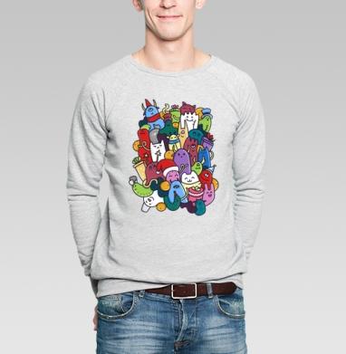Новогодние монстры - Купить мужские свитшоты Новый год в Москве, цена мужских  новогодних  с прикольными принтами - магазин дизайнерской одежды MaryJane