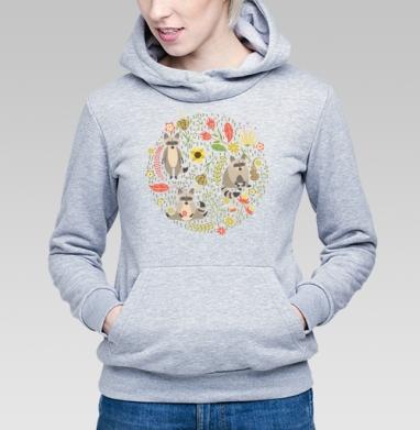 Еноты - Купить детские толстовки с животными в Москве, цена детских толстовок с животными  с прикольными принтами - магазин дизайнерской одежды MaryJane
