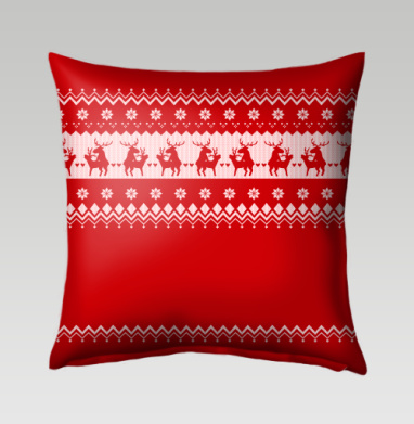 Рождественские узоры - Подушки с принтом