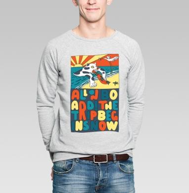Все на борт - Купить мужские свитшоты с кошками в Москве, цена мужских  с кошками  с прикольными принтами - магазин дизайнерской одежды MaryJane