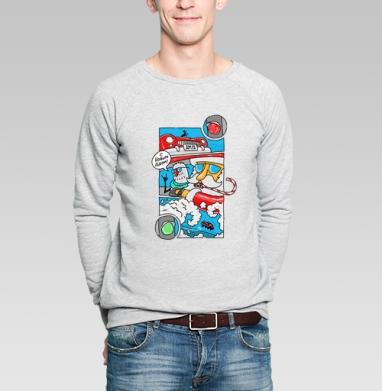 На Светофоре - Купить мужские свитшоты Новый год в Москве, цена мужских свитшотов новогодних  с прикольными принтами - магазин дизайнерской одежды MaryJane