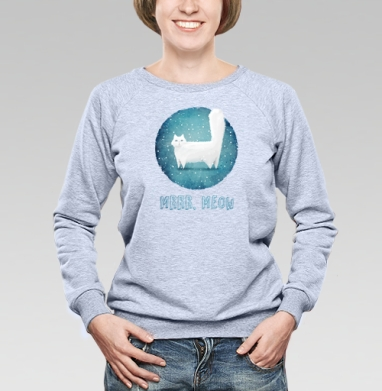 Снежный кот - Купить детские свитшоты милые в Москве, цена детских свитшотов милых  с прикольными принтами - магазин дизайнерской одежды MaryJane