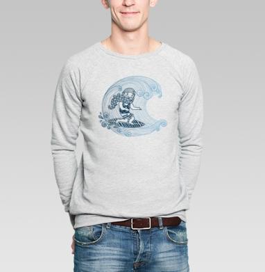 Бородатый серфер - Купить мужские свитшоты хипстерские в Москве, цена мужских свитшотов хипстерских  с прикольными принтами - магазин дизайнерской одежды MaryJane