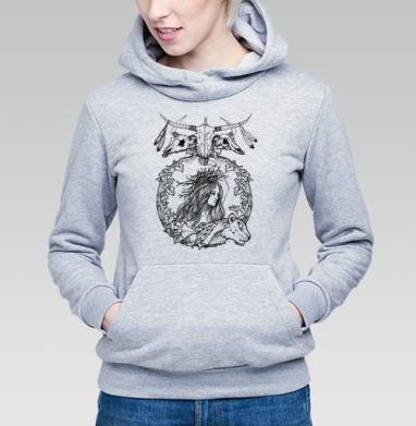 Нимфа северных лесов - Купить детские толстовки с черепом в Москве, цена детских толстовок с черепом  с прикольными принтами - магазин дизайнерской одежды MaryJane