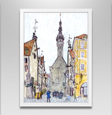 Таллин - Постер в белой раме, город