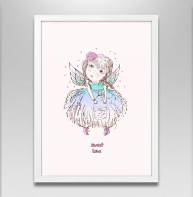 Феячу  - Постер в белой раме, Крылья
