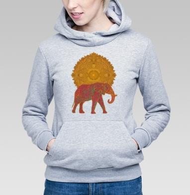 Слон, несущий Солнце - Купить детские толстовки с солнцем в Москве, цена детских толстовок с солнцем с прикольными принтами - магазин дизайнерской одежды MaryJane