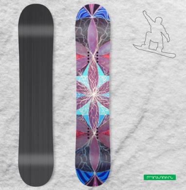 Цветок жизни, мандала - Наклейки на доски - сноуборд, скейтборд, лыжи, кайтсерфинг, вэйк, серф