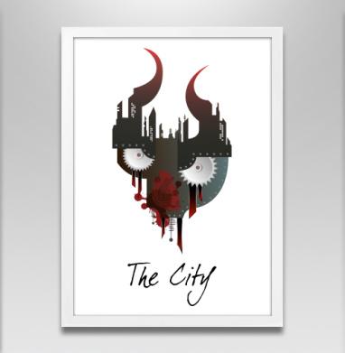 Город - Постер в белой раме, жизнь