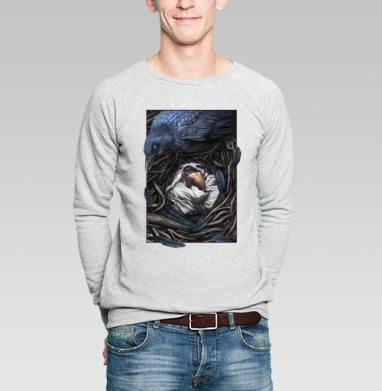 Ворон-страж - Купить мужские свитшоты со сказками в Москве, цена мужских  со сказками  с прикольными принтами - магазин дизайнерской одежды MaryJane